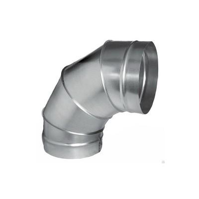 Отвод круглый оцинкованный 90° d250